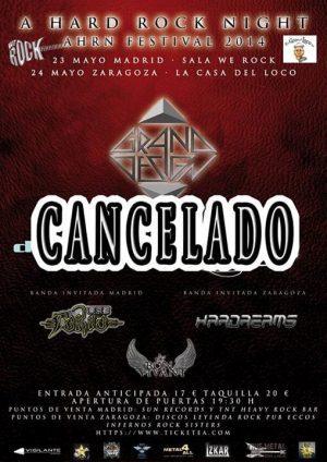 hard rock night cancelado