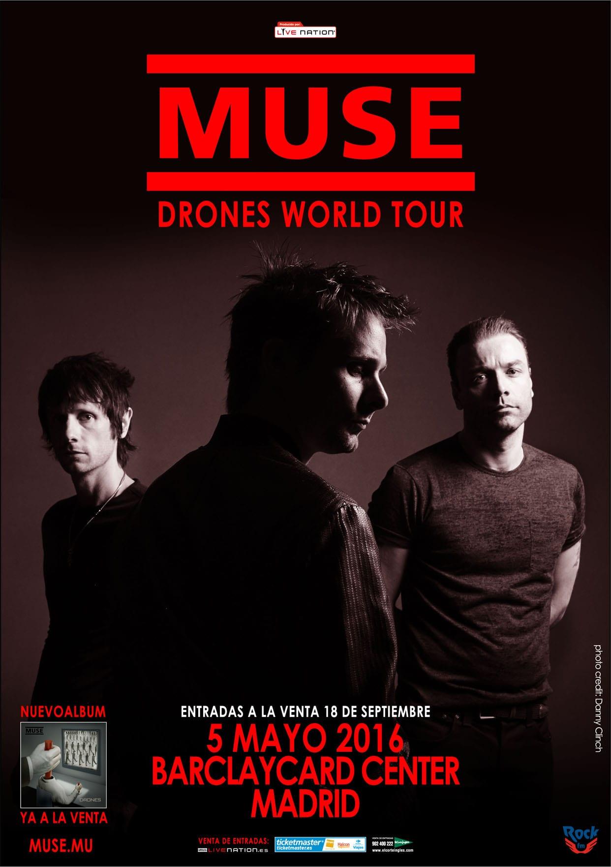 Muse en madrid el pr ximo mes de mayo de 2016 rock the for Conciertos bilbao 2016