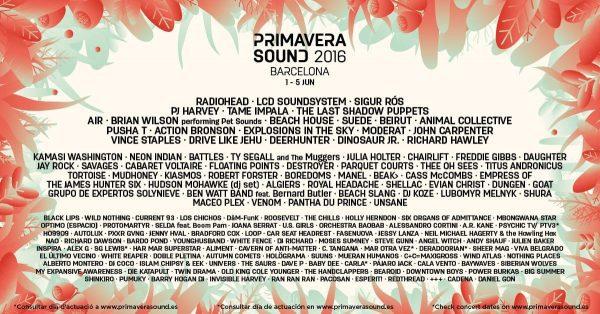 primavera sound 2016 cartel