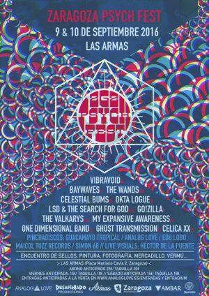Zaragoza Psych Fest cartel 2016