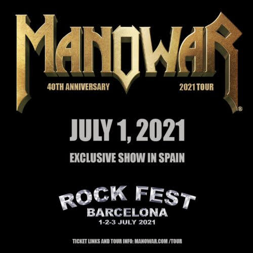 ROCK FEST BARCELONA 2021: Kiss, Judas Priest, Manowar, Foreigner, Dropkick Murphys, Blind Guardian  Mano